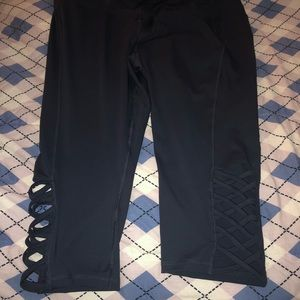 Gray Livi Active Capri Leggings- NWOT